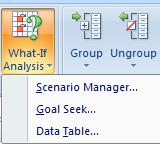 DATA TABLES A data table is a range of cells that shows how changing 1 OR 2 variables in your formulas will