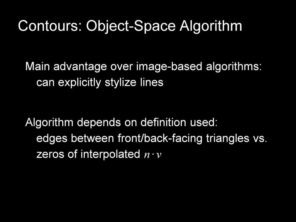 Let s now move to object-space algorithms for contour extraction.