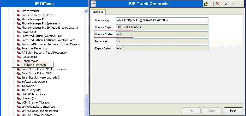 5.1. Verify SIP Trunk Channels License Avaya IP Office is configured via the IP Office Manager application.