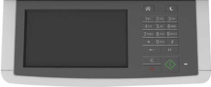 CX510: 7 Color Touchscreen etask Display Home Sleep Keypad Clear All/Reset Cancel Start Indicator Light Buttons and Functions: CX510 Button Display Home button Sleep button Keypad Indicator Light