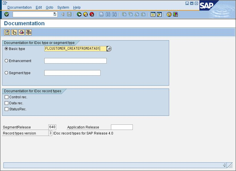 Generate the schemas for the IDoc being sent to the SAP system.