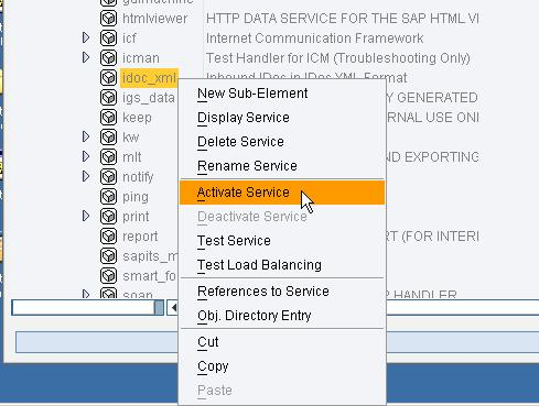 start the service. For starting a service in SICF right-click the node and choose Activate Service.