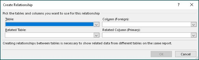 This unique identifier will be used to create the first relationship. The second will be between the Reservations table which has a RoomID column and the Rooms table which has a RoomID column. 1.