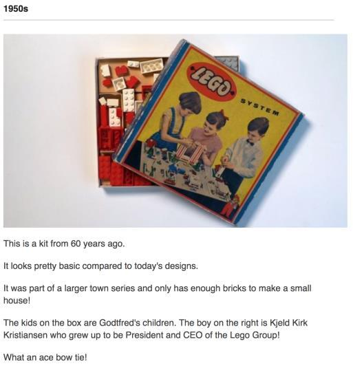 Did you know LEGO is 60 years old this year happy birthday LEGO! (PP some facts) 5.