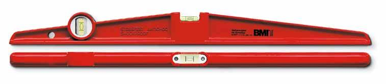 666 00 666 060 666 080 665S / 665 Heavy-weight aluminium die-cast level with two milled measuring surfaces. Red powder-coated frame.