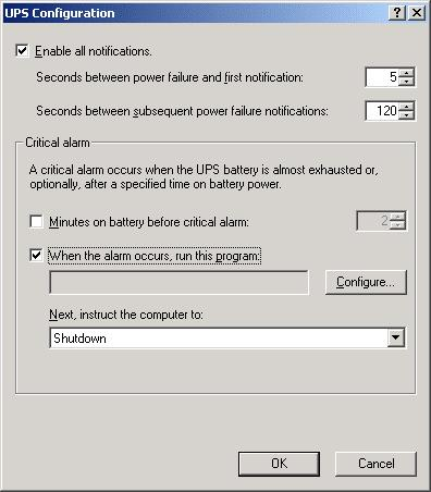 Setup & Operation 10. UPS (Uninterruptible Power Supply) (4) Click the <Configure > button.