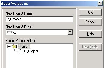 NOTE (2) Select the drive where the backed-up project is stored in the [Select Drive] box and open the backed-up project.