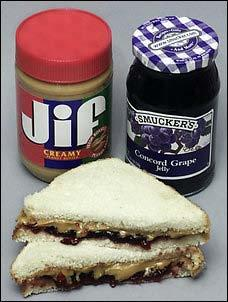 butter and jelly sandwich Peanut