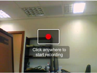 Recrding frm Webcam In the Recrd frm Webcam windw, click anywhere in the recrding area t start recrding. 4. 5. 6.