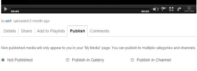Managing Yur Media By default, upladed media is nt published. D ne f the fllwing: Select Publish in Gallery t display the list f galleries.