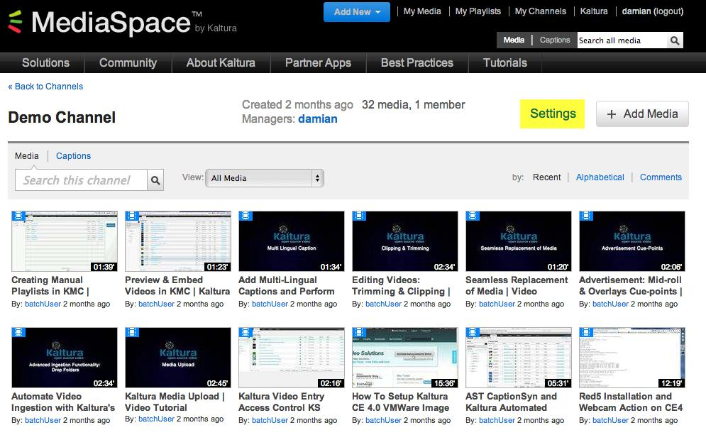 Creating and Managing a Channel Yu can access the new channel frm yur My Channels page.