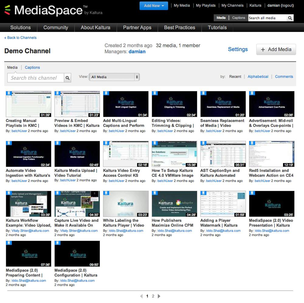 Kaltura MediaSpace Overview A channel is a cllectin fr a subset f users (r all authenticated users). Channel managers and site administratrs may give users permissin fr specific actins.