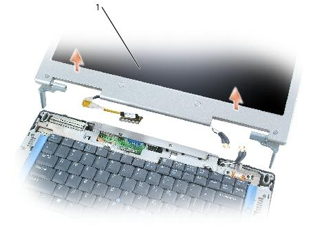 Display Assembly and Display Latch: Dell Inspiron XPS and Inspiron 9100 Service Manual 1 display