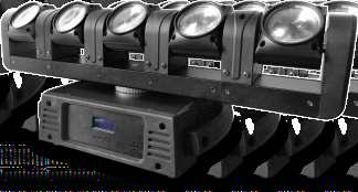 The device also has 4 standard opera ng modes and up to 4 DMX channel modes, each beam can