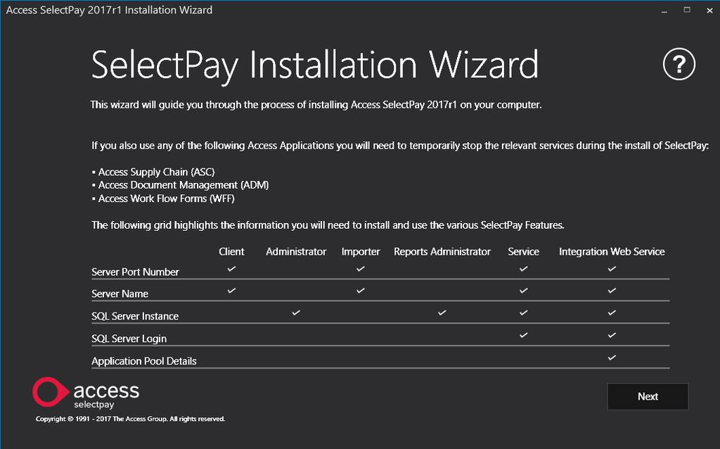 SelectPay Installatin Instructins The Installatin Wizard The installatin wizard cmprises f a series f steps t allw yu t persnalise yur installatin.