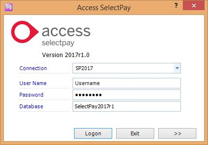 SelectPay Installatin Instructins Enter the User Name yu entered n the Database Creatin wizard int the User Name field, r use Administratr.