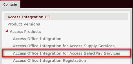 SelectPay Installatin Instructins If yu are already using Access Office Integratin (AOI) with SelectPay these steps will ensure that the integratin cnnectins are up t date.