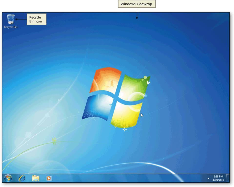 The Windows 7 Desktop Office 2010 and