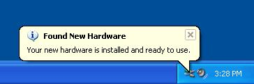 "Step 3 The ""Found New Hardware Wizard"" will now open again in order to install the USB device driver. Select YES to locate the drivers from the Microsoft Website."