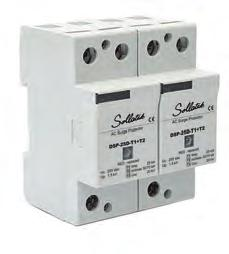 Voltsafe Suppressors Single Phase Din rail DSP1P-25DM-T1+T2 Mains spike/surge protection The Sollatek DSP1P-25DM-T1+T2 is a Type I & II combined surge protection device.