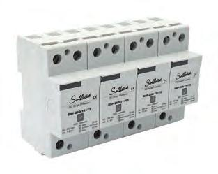 Voltsafe Suppressors Three Phase Din rail DSP3P-100DM-T1+T2 Mains spike/surge protection The SollatekDSP3P-100DM-T1+T2 is a Type I & II surge 3 Phase protection device.