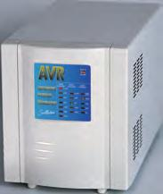 The Sollatek AVR has a very wide input range (-30% to +22%) and a voltage correction speed of 1250 Volts per second.