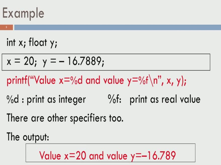 many columns to use for printing them. So, numbers could occupy different number of columns and so on. So, we could have right justification or left justification and so on.