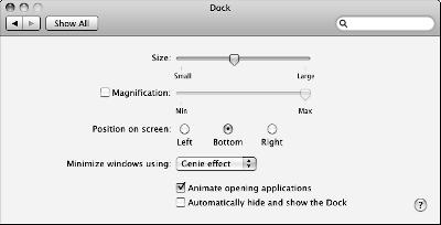 Move and Hide the Dock Move and Hide the Dock 1. Open System Preferences and then click the Dock icon. 2.