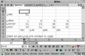 To enter a formula Example 1: Adding up a column Select cell A8 - move to it with the mouse and click in the cell. Enter the word TOTAL. Then Either Move to cell B8.