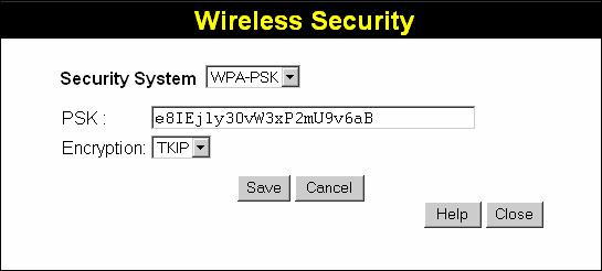 Wireless ADSL Router User Guide Key Value Passphrase Enter the key value or values you wish to use. The Default Key is required, the other keys are optional. Other stations must have the same key.
