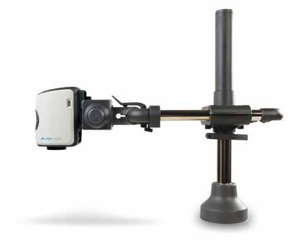 Available with platform base, or mounted directly to the work surface. Ergo stand Small footprint providing exceptional stability for high magnification use.