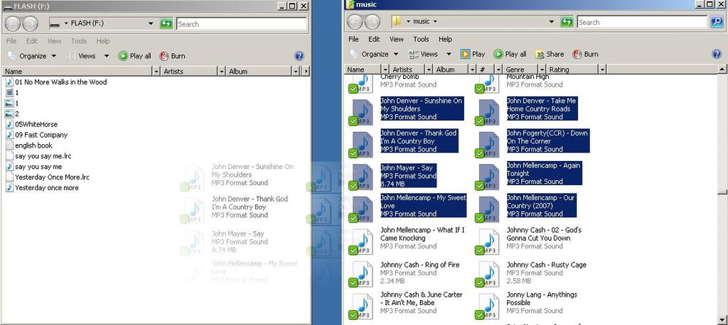 Open the folder that contains the music, pictures, videos, or ebooks that you want to load on the MP3 player. 4.