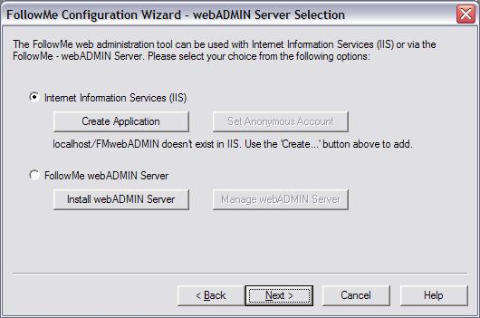 Installing in an Internet Infrmatin Services (IIS) Server