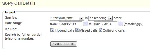 Call Logs Call Logs service allows for storing short term a number of entries for each user.
