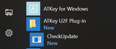 Install and enable U2F (fr Windws 10 nly; fr Mac, n extra dwnlad needs, it s ready with ATKey fr Mac ): Dwnlad and install ATKey U2F Plug-in frm AuthenTrend web site; after installatin, yu shuld see