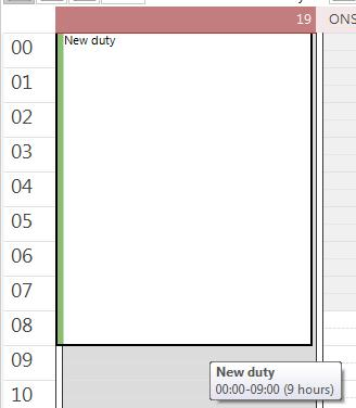 Select the Duty Planner and the Duty Calendar tabs.