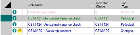 Exercise 13: Create Maintenance Jobs 3. In the IGSS Master, click Home tab > Maintenance button to open the Maintenance form.