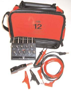 Ring lugs Meter test probes or wire connections Custom or standard cables and harnesses FT Test Kit The ABB FT test kit comes with a