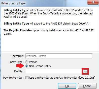 STEP D Highlight the Billing Entity Type and click on Edit.