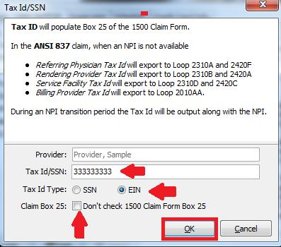 Enter your Tax Id/SSN and then select the proper Tax