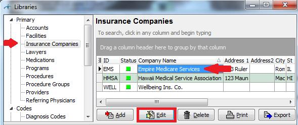 Click on Insurance Companies.