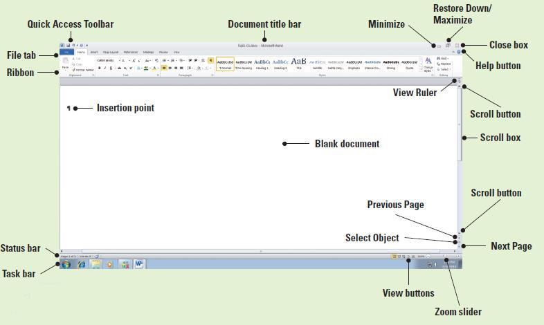 Software Orientation Before you begin working in Microsoft Word, you need to acquaint yourself with the