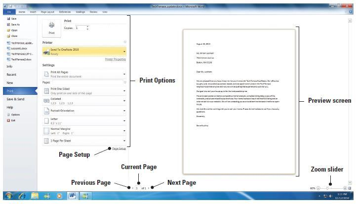 Step-by-Step: Use Print Preview USE the document that is open from the previous exercise. 1.