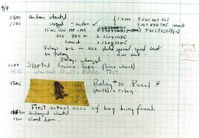 Step 4: Testing and Debugging A bug is an error in your program. Debugging involves finding and fixing the bugs. The first program bug! Found by Grace Murray Hopper at Harvard. (http://www.hopper.