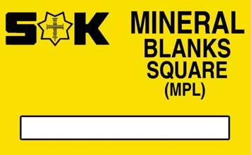 65 Price breaks available, see website Mineral Blanks - Rectangular & Radius Sternkreuz (MZG) - Gents Sternkreuz (MZL) - Ladies Radius measurement is in millimetres of what the distance would be if