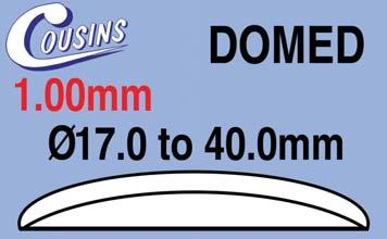 WATCH GASKETS SAPPHIRE WATCH GLASSES Sapphire Domed Watch es 1.00mm Domed, Sapphire 1.00mm, Sapphire DS100CMH365 Ø36.5mm (1.00mm) Domed EACH 41.95 DS100CMH370 Ø37.0mm (1.00mm) Domed EACH 41.95 DS100CMH375 Ø37.