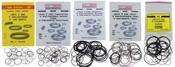 UK Gaskets Eufor Gaskets ISO Gaskets (Nitrile (NBR) black rubber) Choice of thicknesses & diameters (for slim & quartz watches etc.) for watch case backs & bezels.