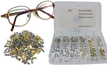 - Spectacle Screws, Assortment Pocket Watch - Made - Assorted Left Hand Thread