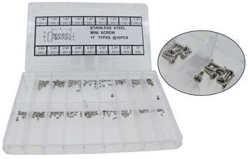 WATCH PARTS NON BRANDED S40340 Ø1.10 x 2.00 x Ø1.80mm PACK*20 1.95 S40343 Ø1.10 x 2.00 x Ø2.30mm PACK*20 1.95 S40346 Ø1.10 x 2.50 x Ø2.60mm PACK*20 1.95 S48385 Ø1.20 x 1.60 x Ø1.50mm PACK*10 0.