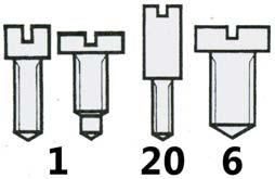 95 Bridge Screws (Wristwatch) Assorted S37330 Hairspring Stud Screws (Diagram 107) PACK*150 25.